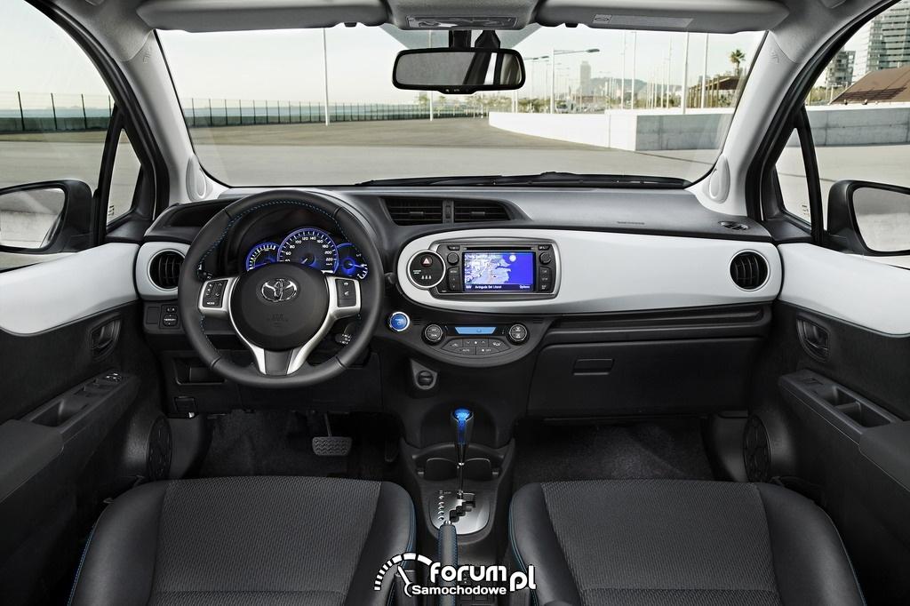 Deska rozdzielcza, Toyota Yaris Hybrid