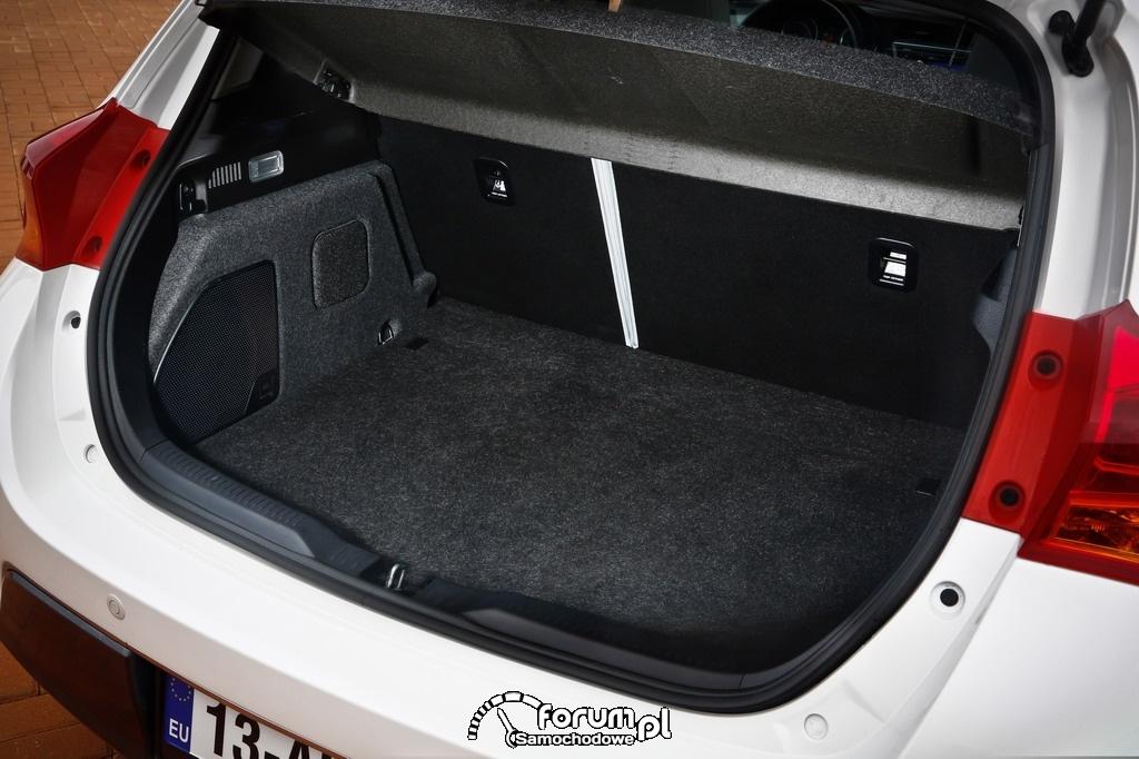 Hybrydowa Toyota Auris, bagażnik