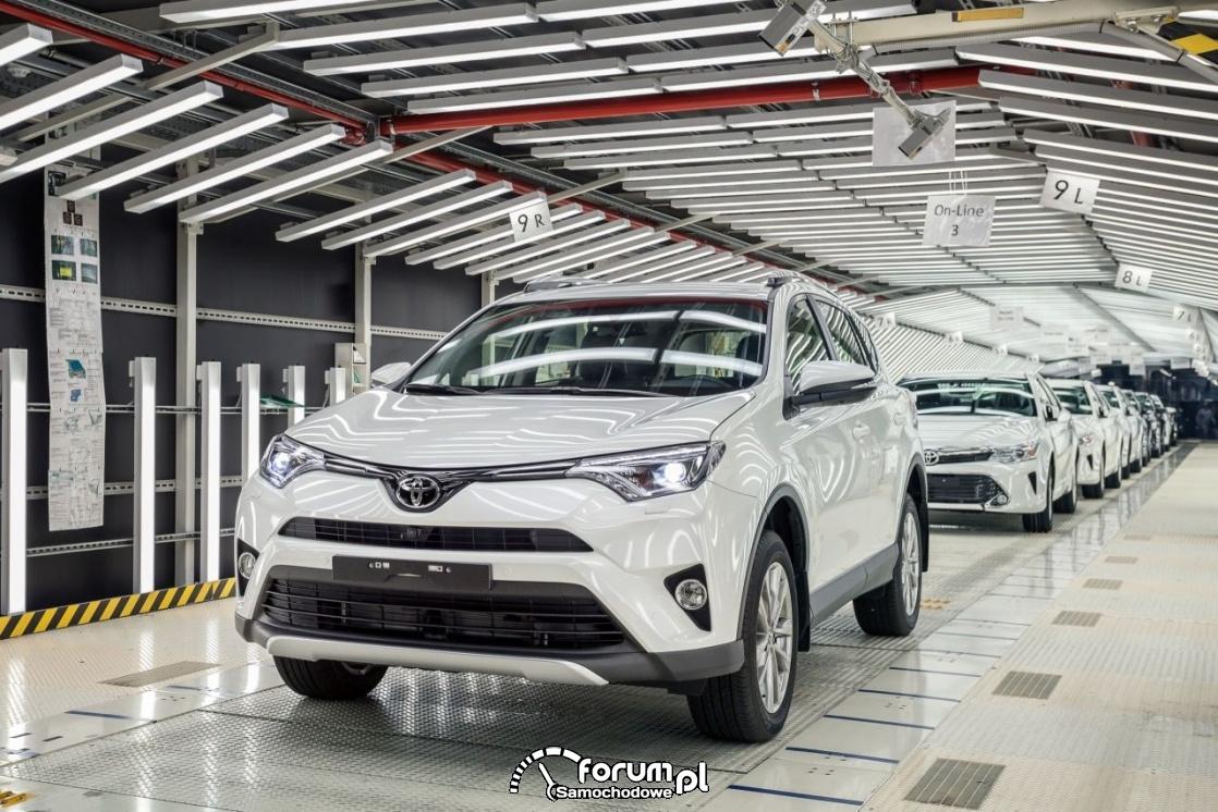 Linia produkcyjna samochodów marki Toyota