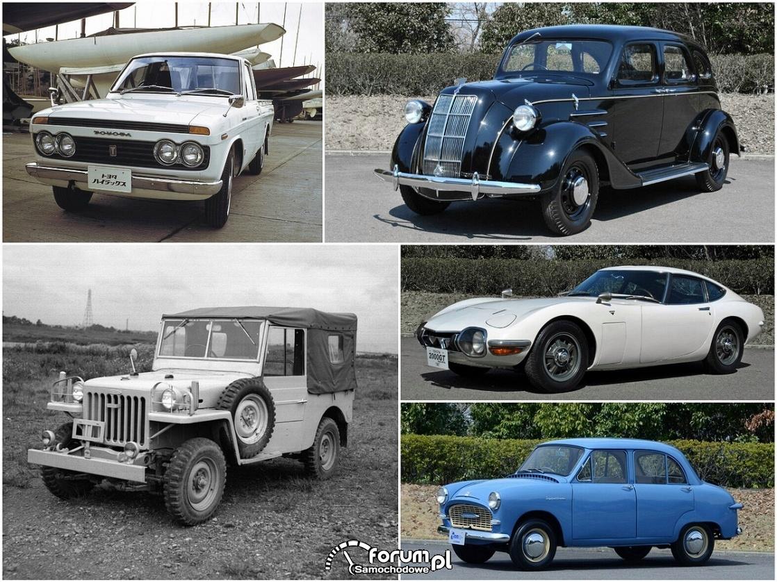 Najważniejsze modele pierwszego półwiecza istnienia Toyoty