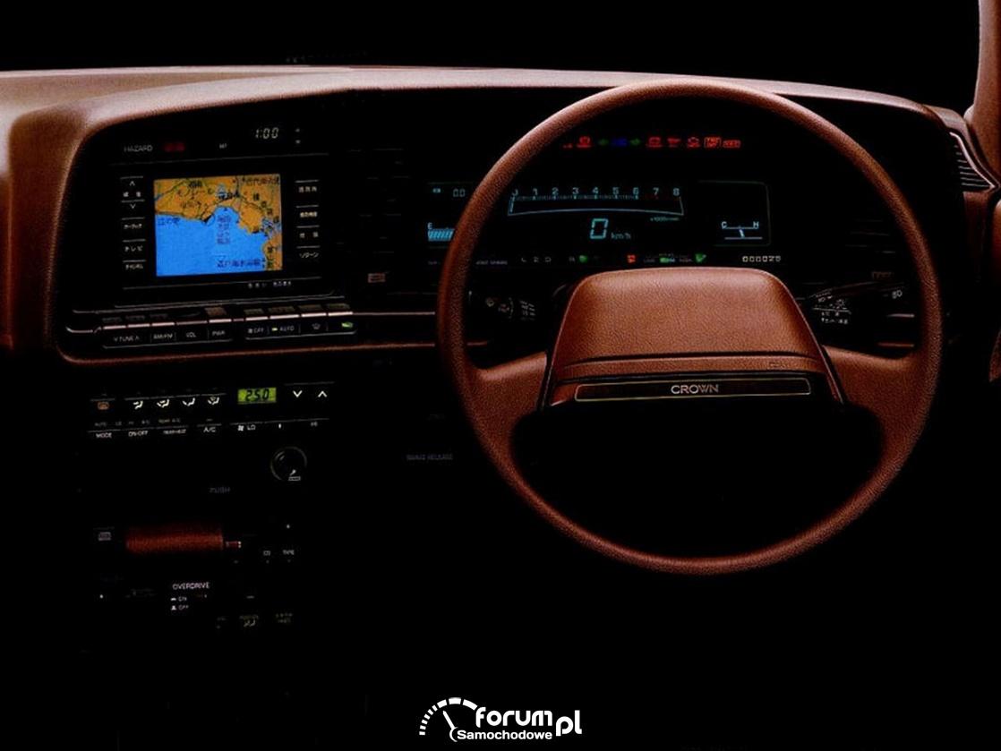 Pierwszy seryjny system nawigacji z kolorowym monitorem, 1987
