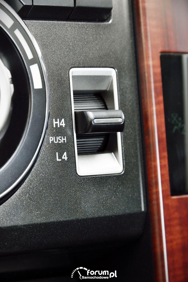 Przycisk przełączania napędów, Toyota Land Cruiser, 2013