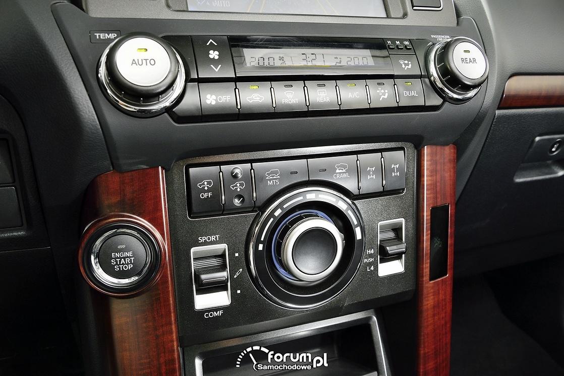 Środkowa konsola, Toyota Land Cruiser, 2013