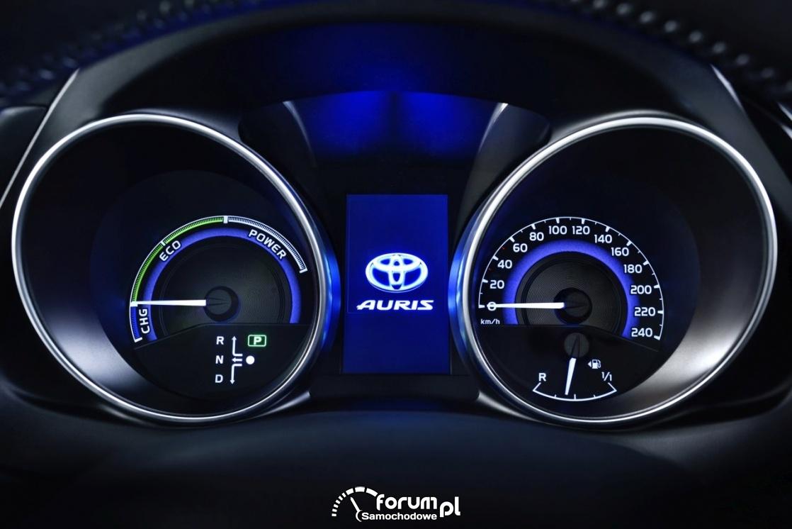 Toyota Auris, licznik, zegary, 2015