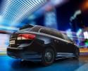 Toyota Avensis Emotion, tył czarny