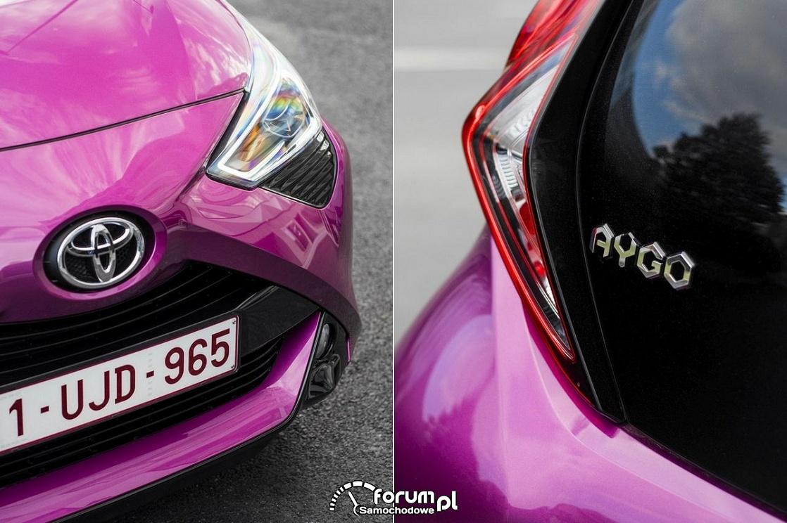Toyota Aygo 2018, lampy przód i tył