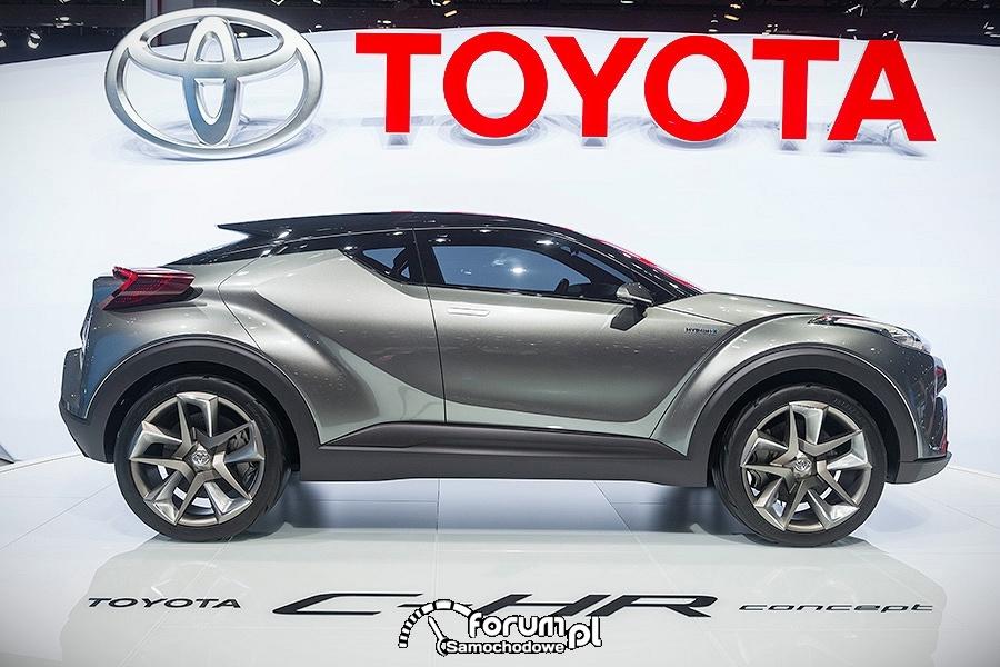 Toyota C-HR, hybrydowy crossover, bok