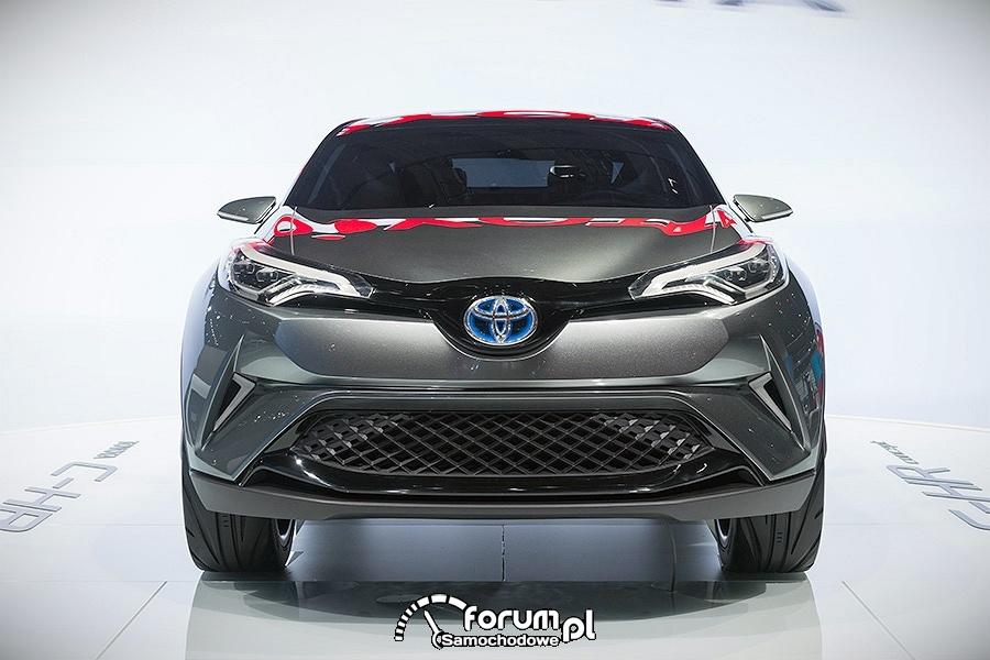 Toyota C-HR, hybrydowy crossover, przód