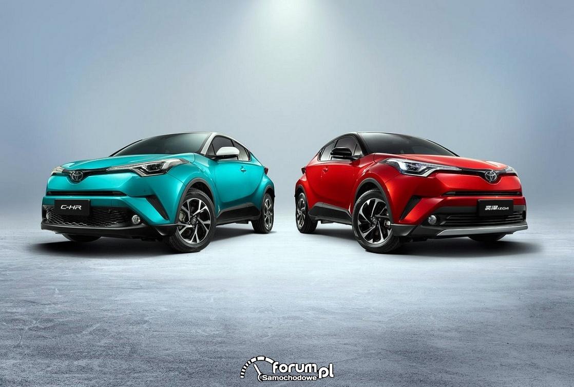 Toyota C-HR będzie pierwszym samochodem elektrycznym Toyoty w Chinach