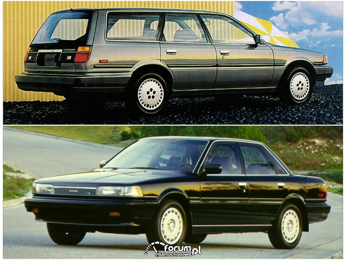 Toyota Camry sedan i LE wagon, 1988 rok