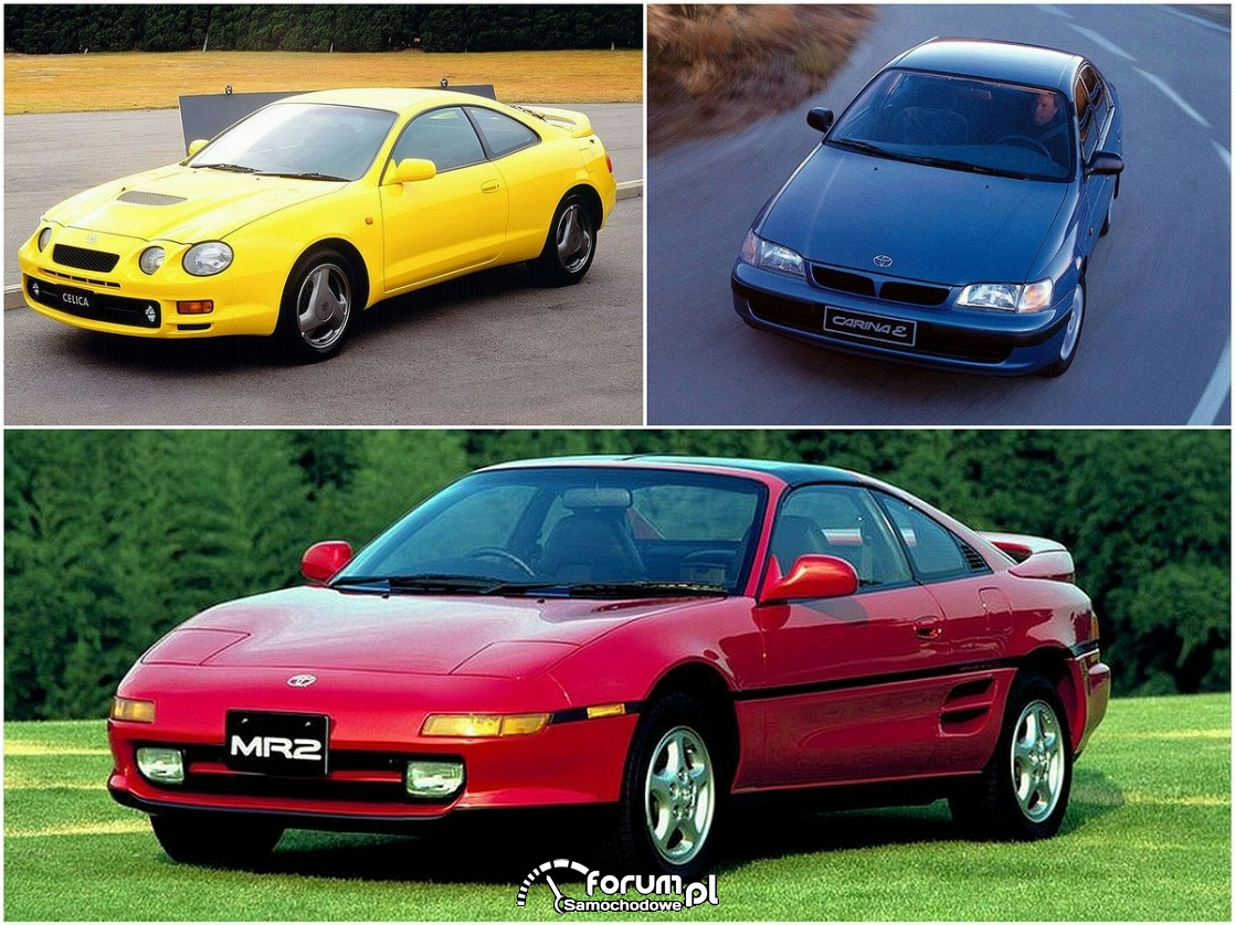 Toyota Carina, Celica, MR2, silniki 3S-GE, GTE