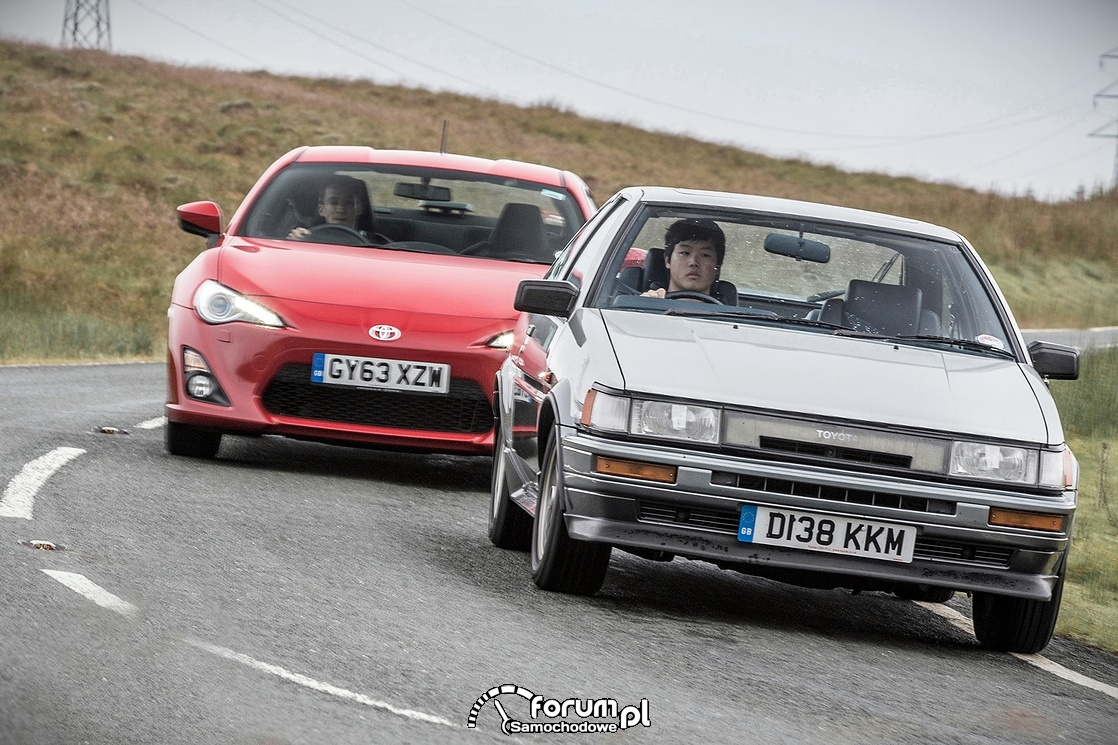 Toyota Corolla AE86 i GT86, przód