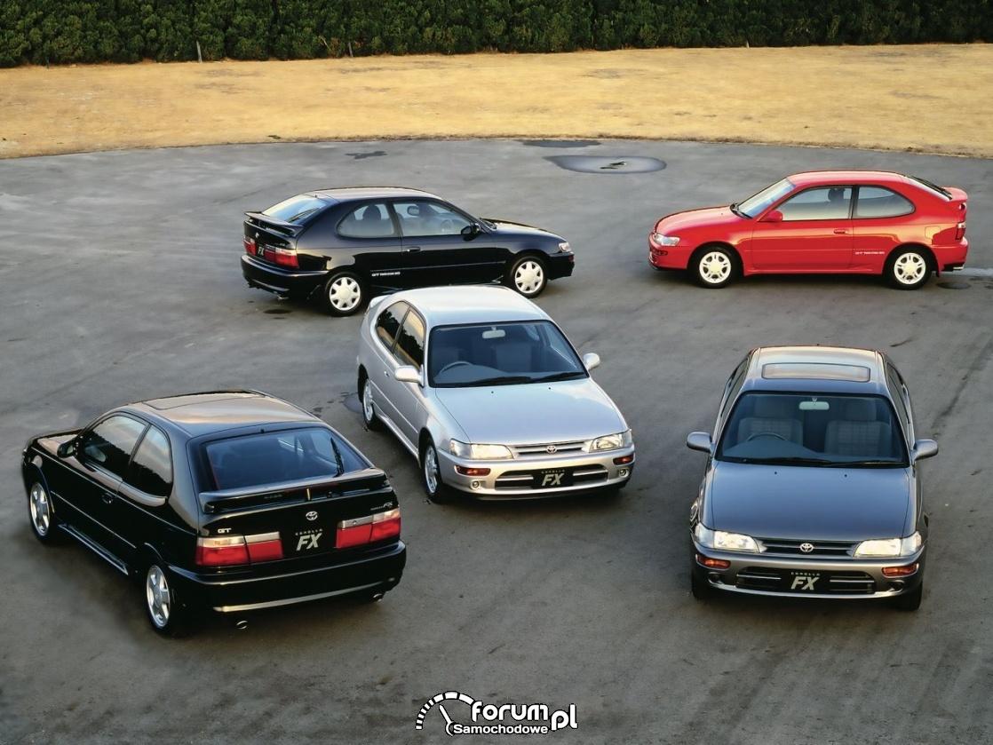 Toyota Corolla, generacje