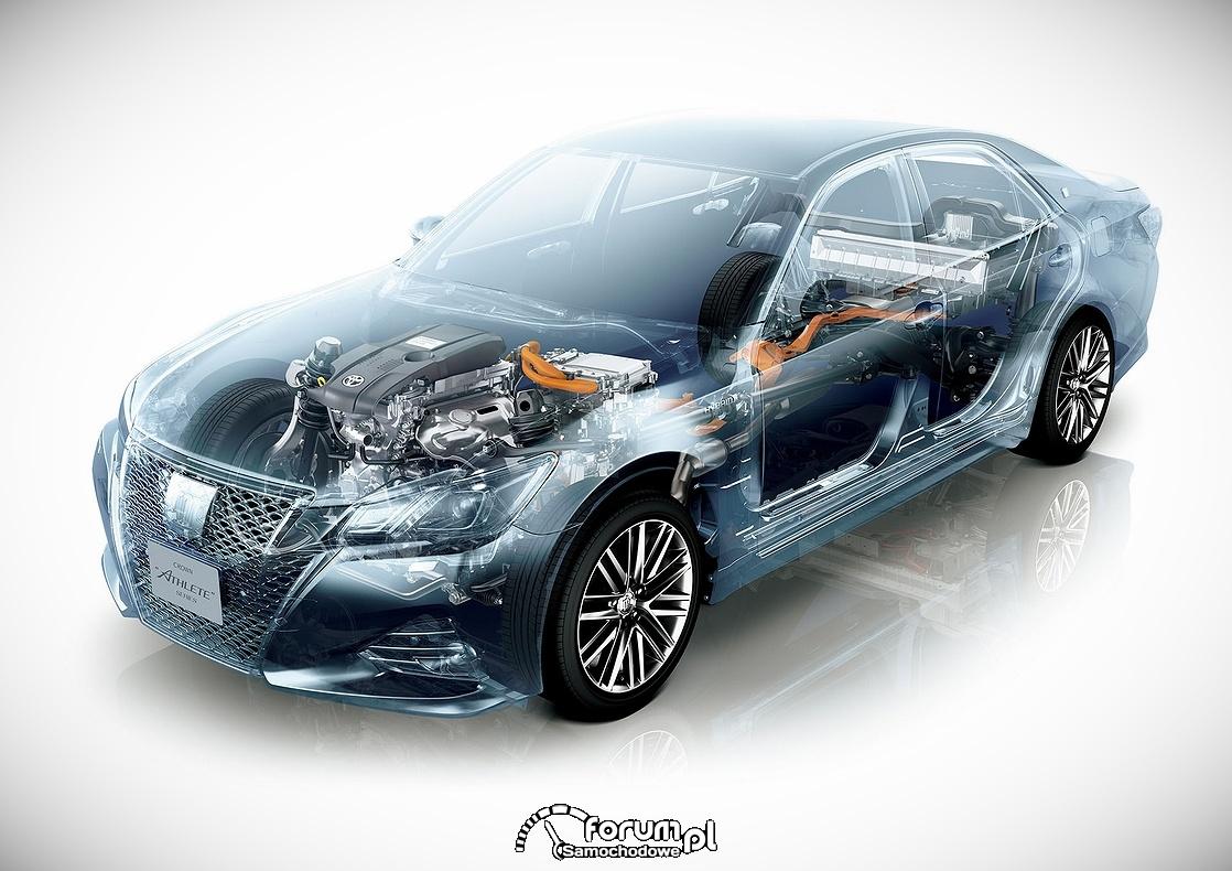 Toyota Crown, 60 urodziny i face lifting, przekrój napędu
