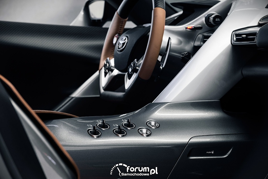 Toyota FT-1, przyciski na środkowej konsoli