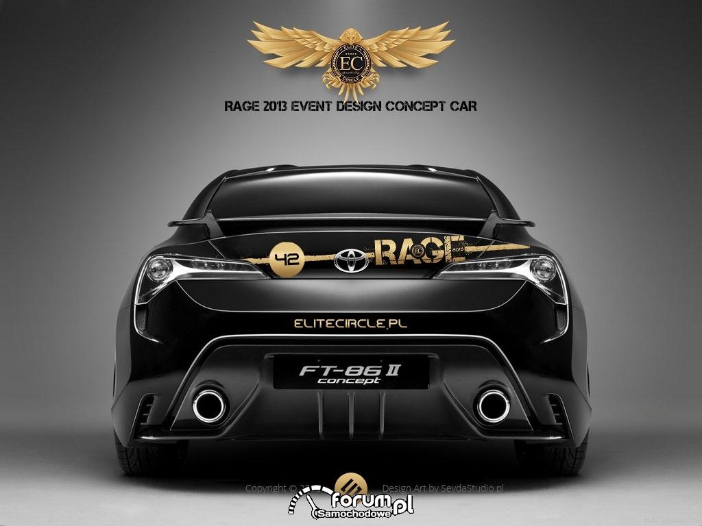 Toyota FT-86 II, Rage 2013, tył