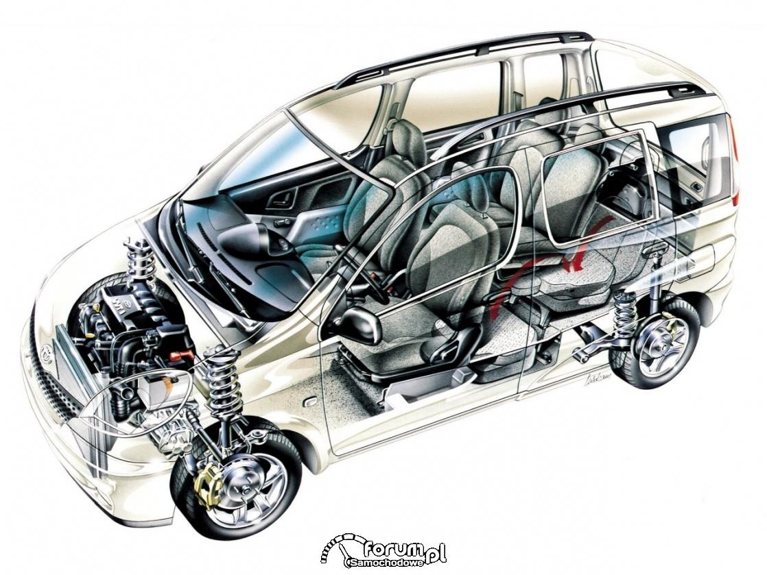 Toyota Funcargo pierwszy na świecie system składania tylnych siedzeń dla uzyskania płaskiej podłogi