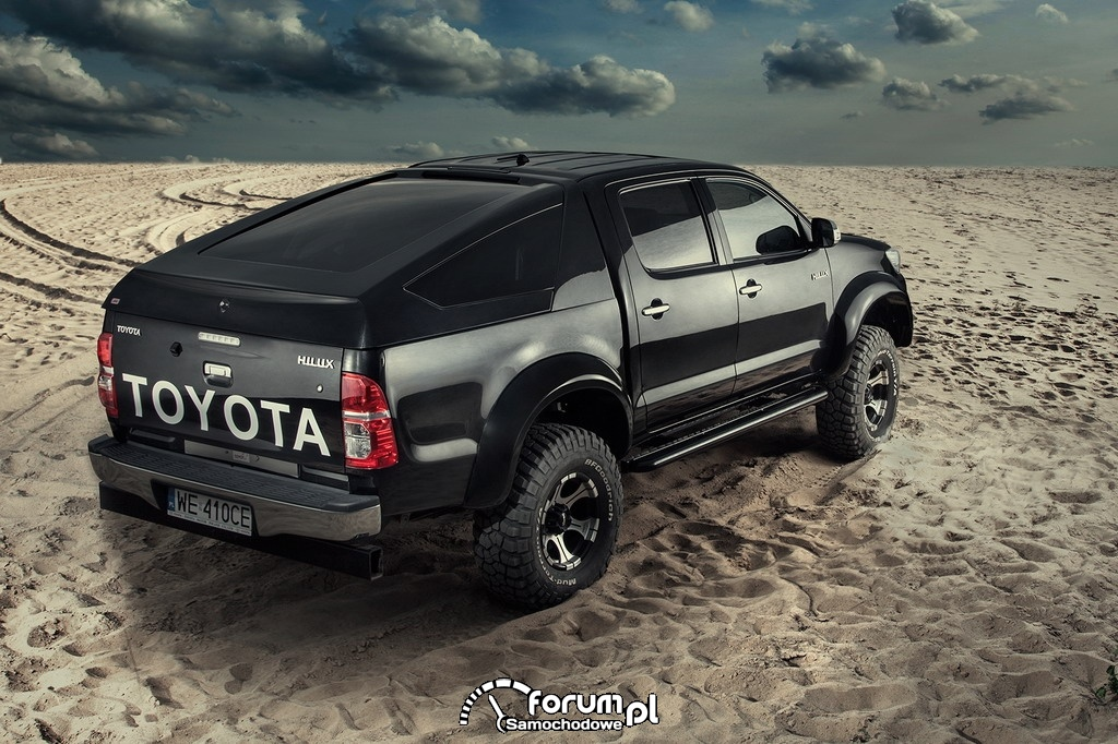 Toyota Hilux Adventure, tył, piasek, off-road