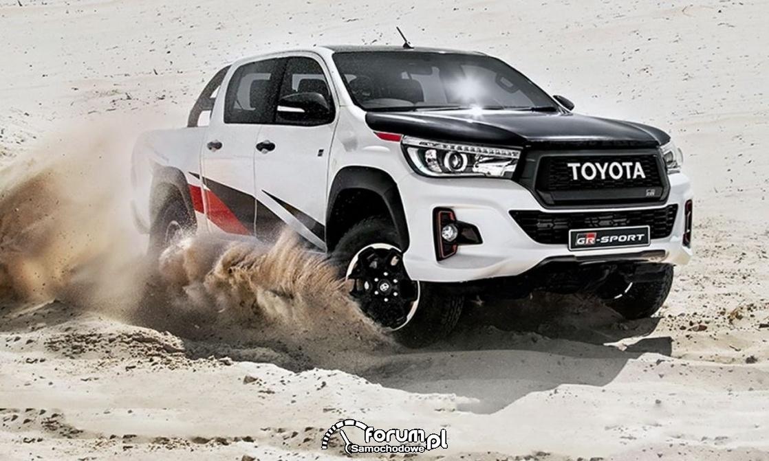 Toyota Hilux GR Sport, pustynia, piach