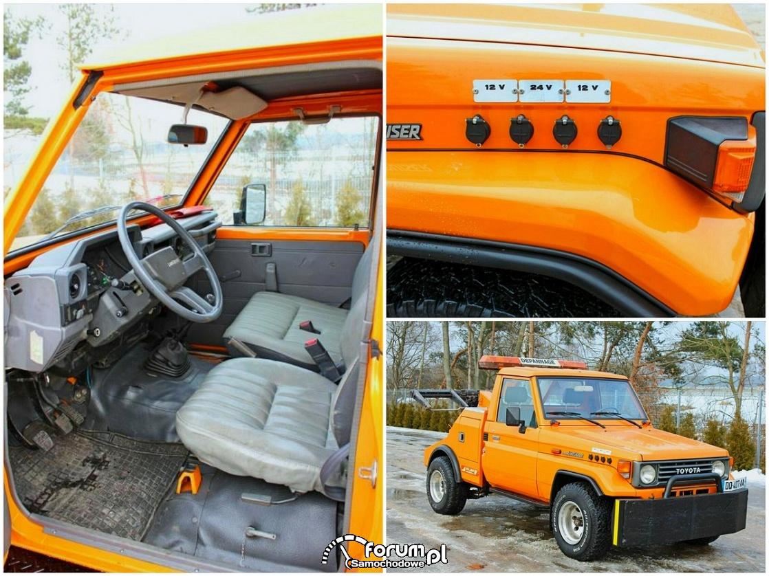Toyota Land Cruiser PZJ75, wnętrze, podłączenie 12V i 24V