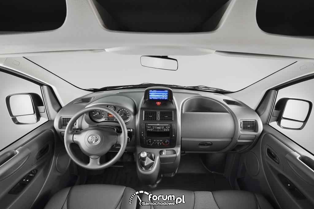 Toyota ProAce, lekki pojazd użytkowy, wnętrze, 2012
