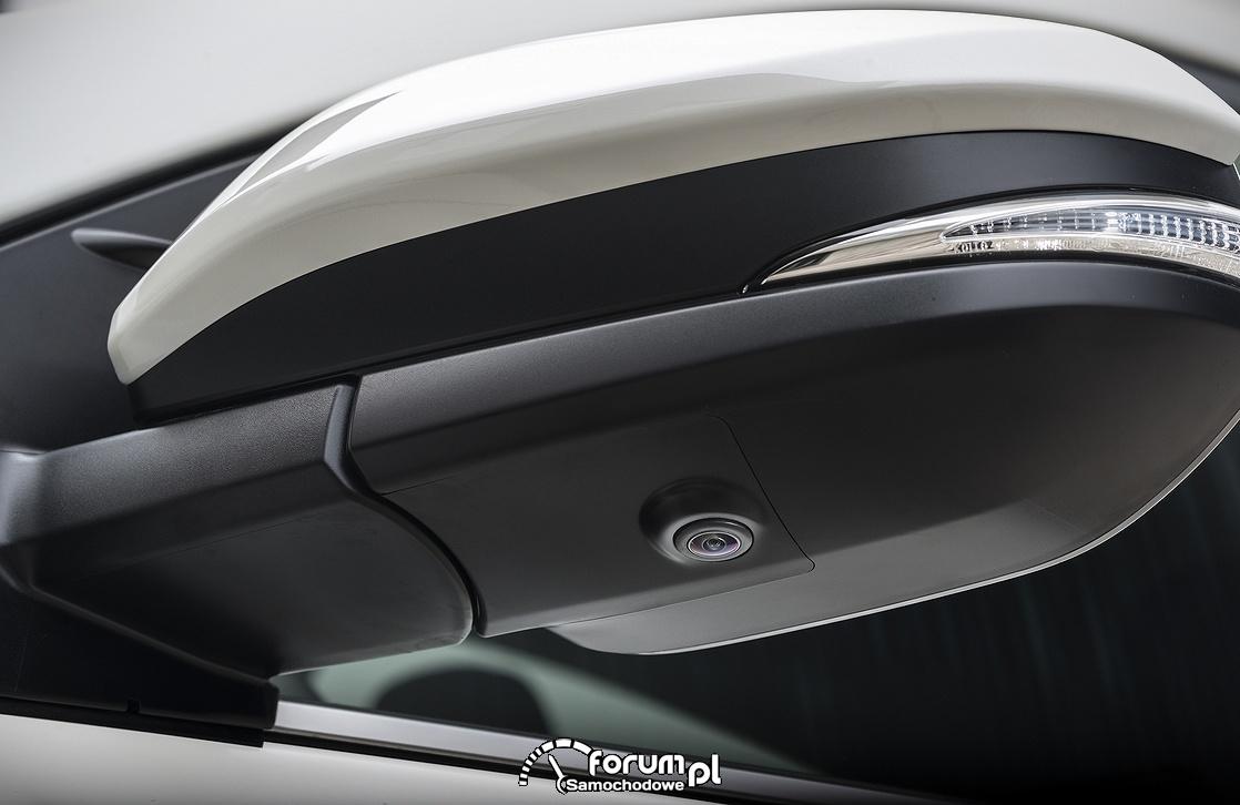 Toyota RAV4 Hybrid, kamera i kierunek w lusterku