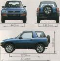 Toyota Rav4 I 3d wymiary