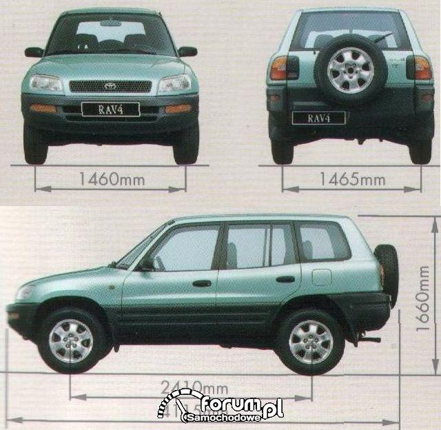 Toyota Rav4 I 5d wymiary