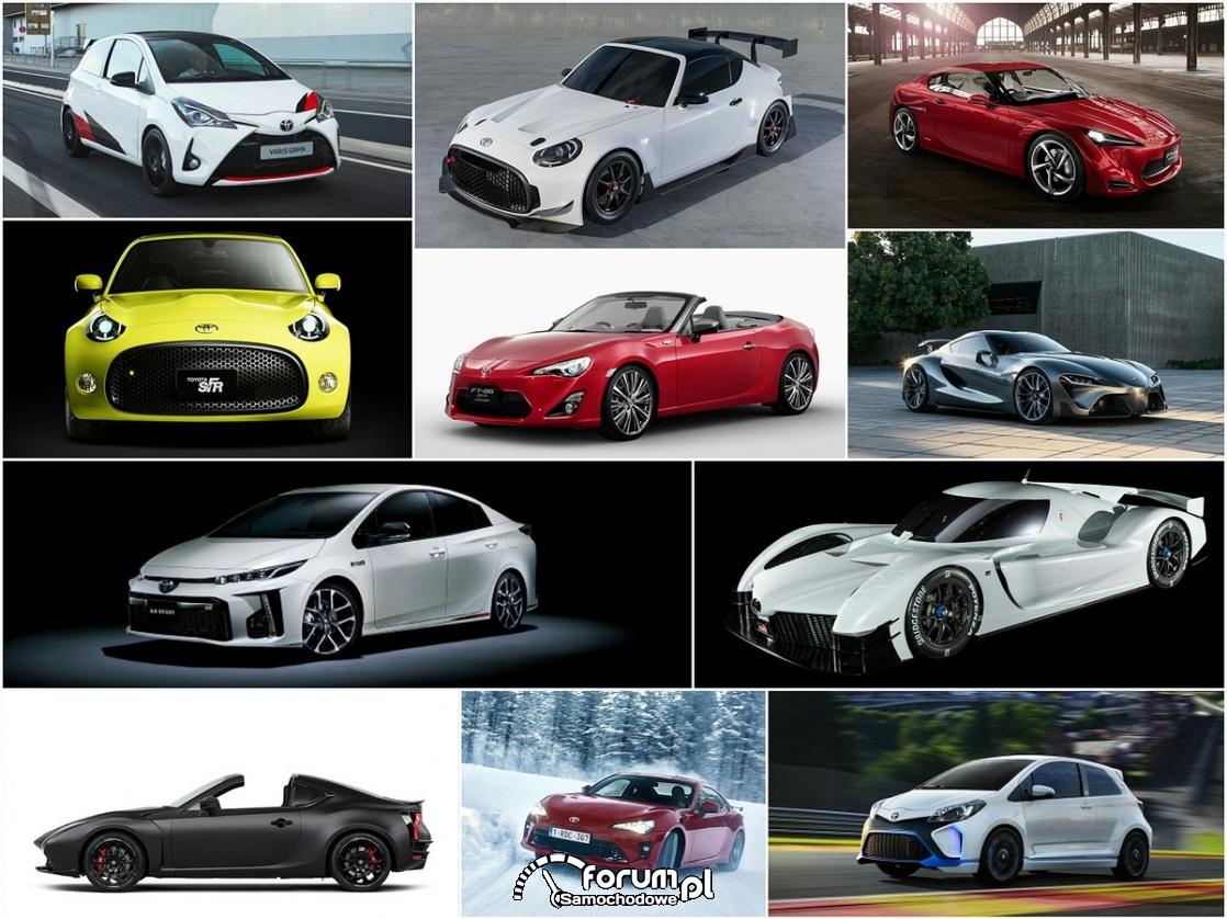 Współczesne sportowe Toyoty