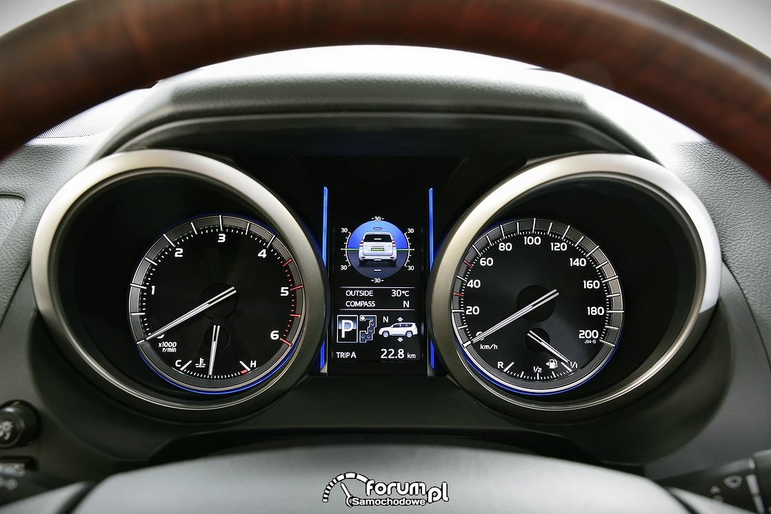 Zegary, Toyota Land Cruiser, 2013