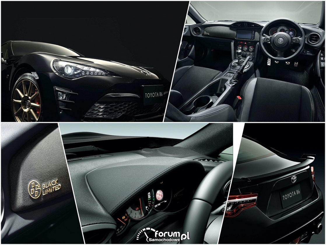 Toyota GT86 black limited, detale
