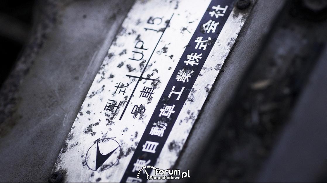 Tabliczka identyfikacyjna, Toyota Sports 800