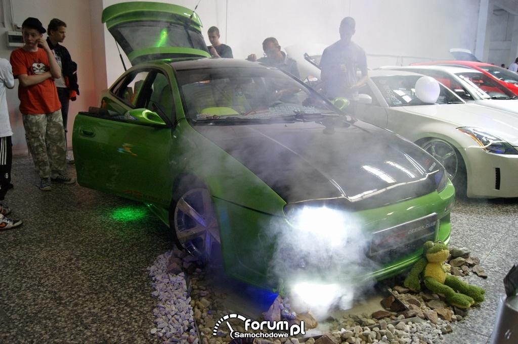 Tuning Mazda, przezentacja, dym, woda
