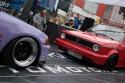 Czerwony Golf I Cabrio kontra  fioletowy Civic V