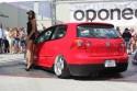 VW Golf V, 3-drzwi, czerwono-czarny design, hostessy
