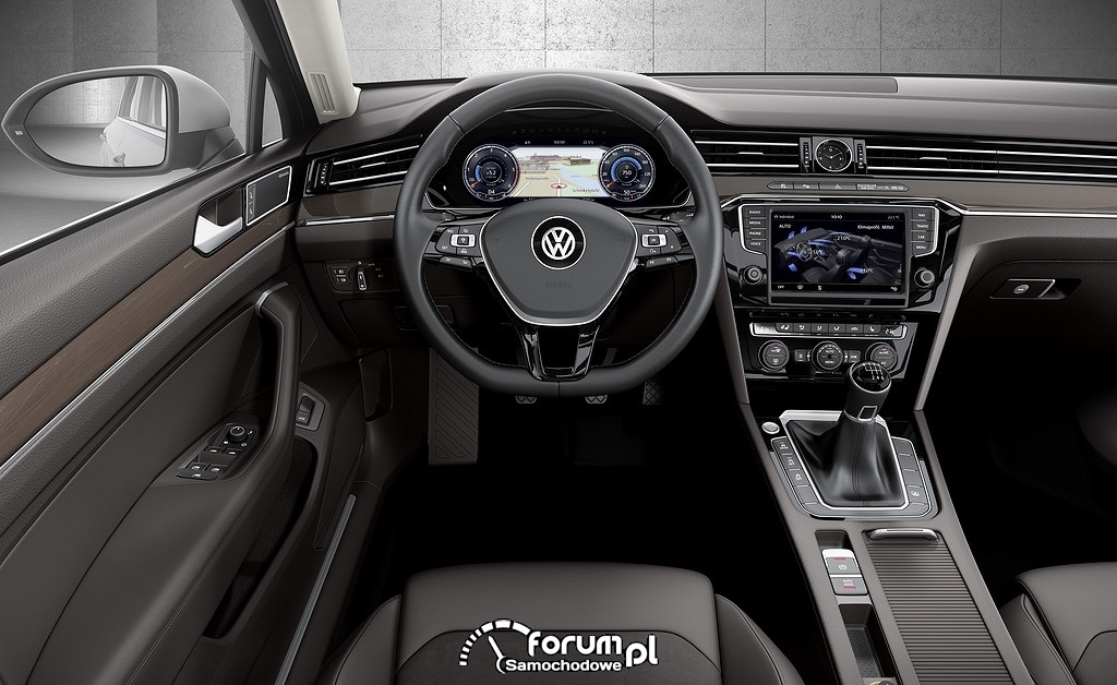 Deska rozdzielcza, Volkswagen Passat GTE B8