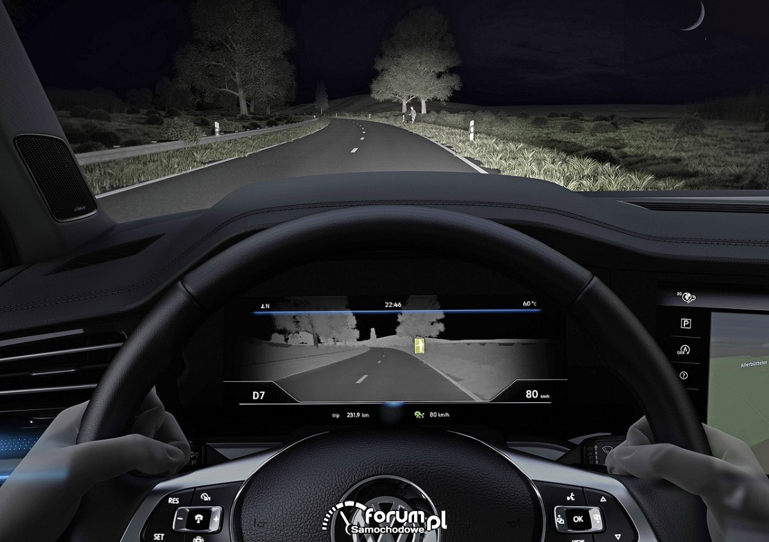 Nightvision - technologie high-tech w nowym Touaregu