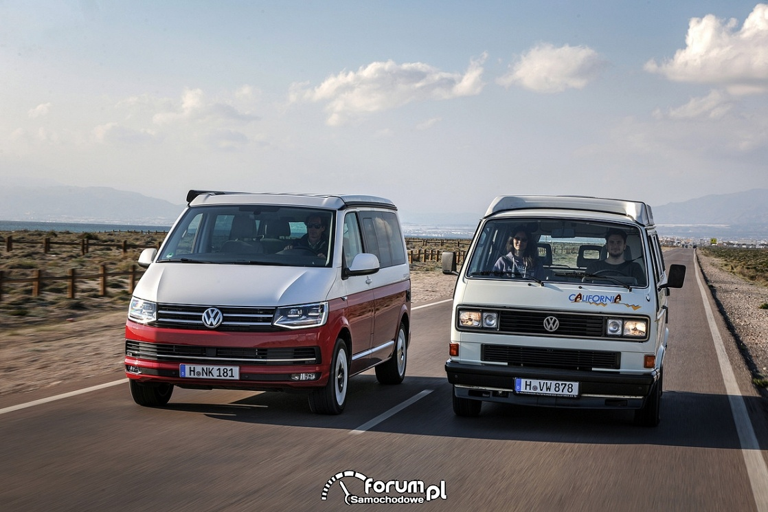Volkswagen California T3 vs California T6
