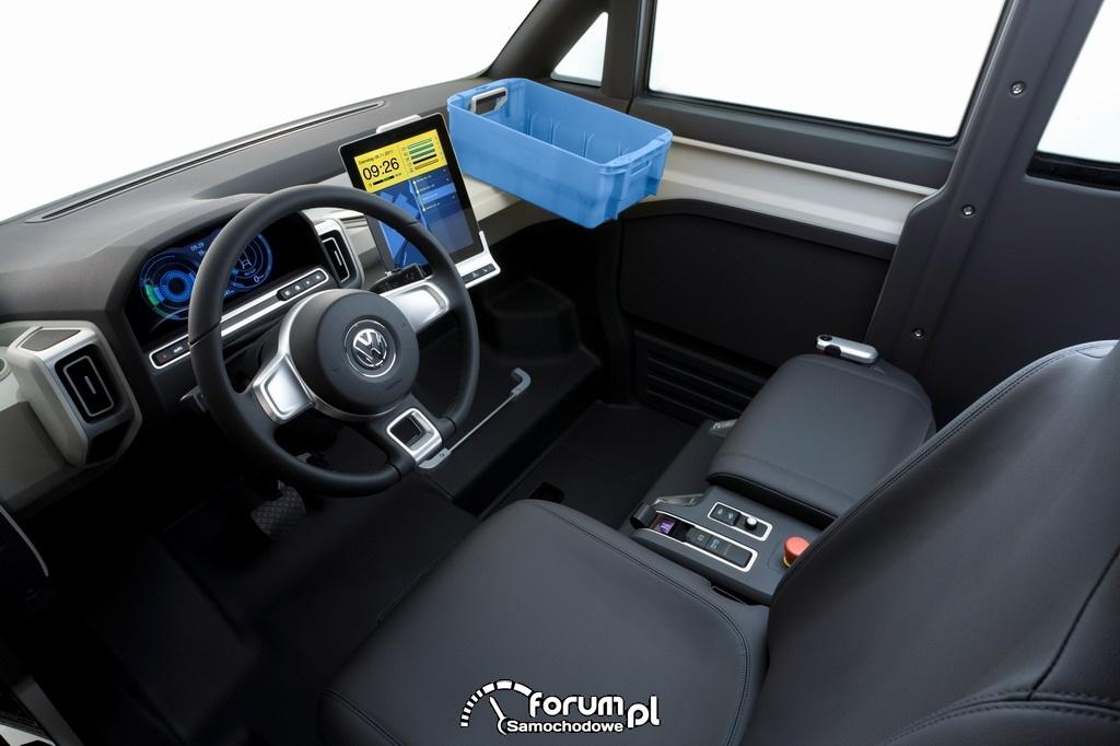 Volkswagen eT!, prototyp samochodu elektrycznego, deska rozdzielcza