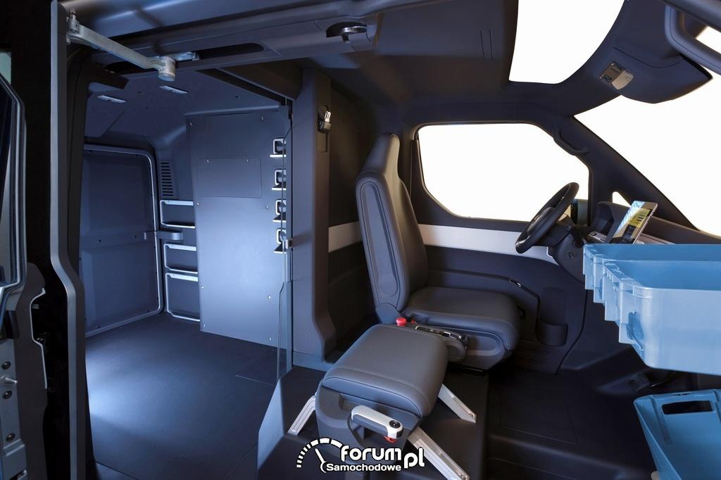 Volkswagen eT!, prototyp samochodu elektrycznego, wnętrze