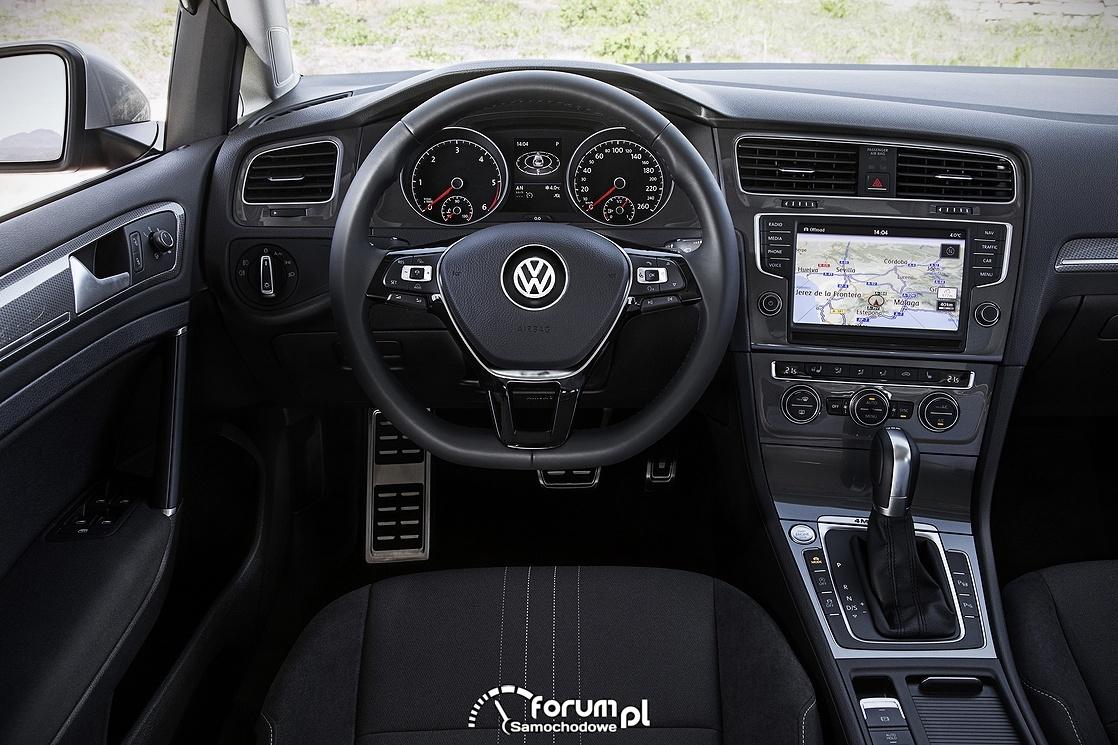 Volkswagen Golf Alltrack, wnętrze, deska rozdzielcza