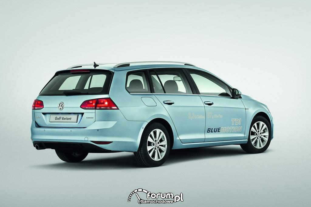 Volkswagen Golf TDI BlueMotion, kombi, tył