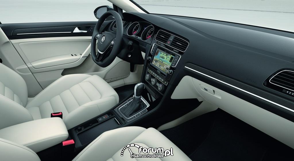 Volkswagen Golf VII, wnętrze, 2