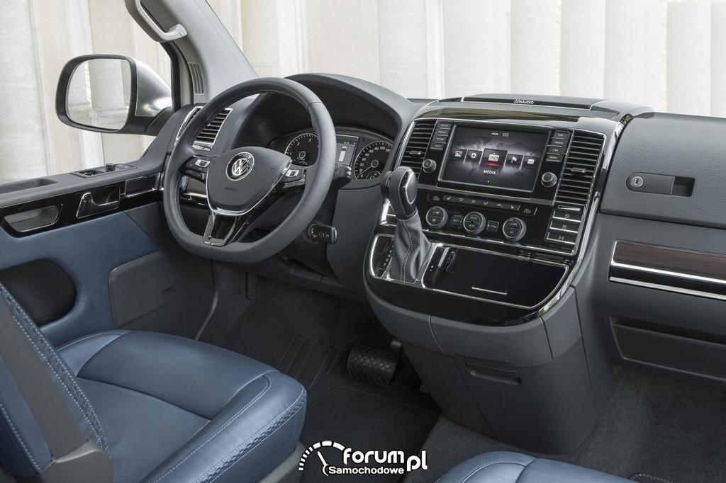 Volkswagen Multivan Alltrack, wnętrze, deska rozdzielcza