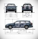 Volkswagen Passat B8 kombi, wymiary