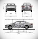 Volkswagen Passat B8 sedan, wymiary