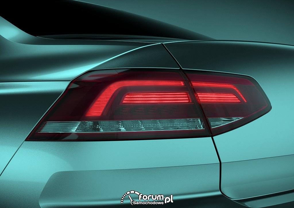 Volkswagen Passat B8, tylna lampa LED