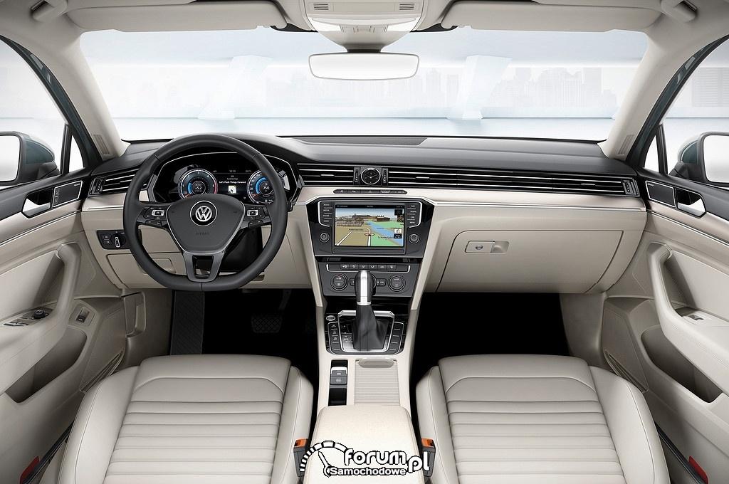 Volkswagen Passat, wnętrze, deska rozdzielcza, 2015