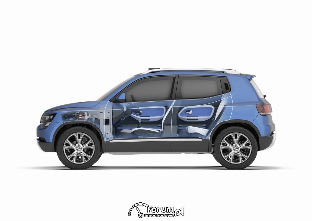 Volkswagen Taigun, SUV, przekrój z boku