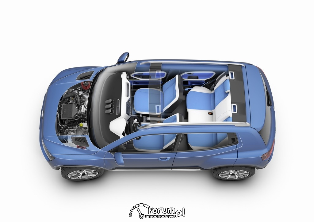 Volkswagen Taigun, SUV, przekrój z góry